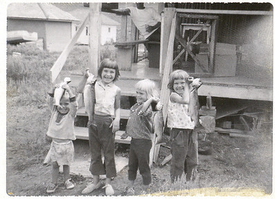 1964ish Kids wfish in Toole Utah copy