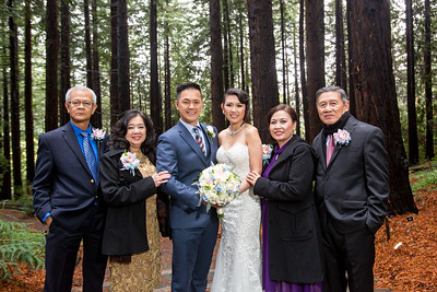UC Berkeley Botanical Garden Wedding, Huy Pham Photography, UC Berkeley Redwood Grove Wedding, Rainy day wedding, Wedding in the Rain, Berkeley Wedding photographers, Troy and Hanh Wedding