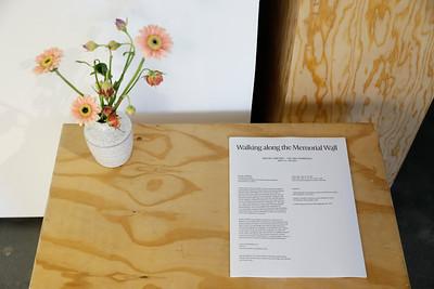 """Walking along the Memorial Wall"" exhibition by artist Rachel Zaretsky"