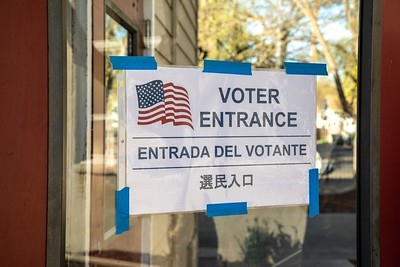 Sierra 2 Center was open for the presidential primary on March 3, 2020. (Photo by Joan Cusick)