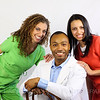 VIVA Dental 1 : Dr. Shawn, Fanni & Trina. Advertising photo session. VIVA Dental billboards can be seen eastbound on 38th near High School Rd at I-465 or westbound on 38th near Kevin Way.