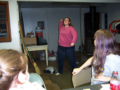 "Lauren doing Charades... I think this one was ""Hi Ho Silver Away!"""