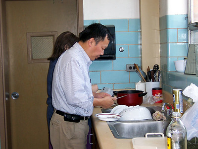 Professor Lin helped out too and even made us an extra dish to serve.
