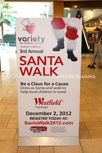 1212271-0001    The 3rd Annual Santa Walk fundraiser benefiting Variety the Children's Charity of Southern California at Westfield Topanga on Dec. 2, 2012 in Canoga Park, Calif.  (Photo by Ryan Miller/Capture Imaging)