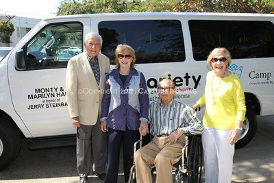 1208199-017     LOS ANGELES, CA - AUGUST 9: Variety The Children's Charity present the Monty and Marilyn Hall Sunshine Coach to Jerry Steinbaum and Big Brothers Big Sisters of Los Angeles on August 9, 2012 in Los Angeles, California. (Photo by Ryan Miller/Capture Imaging)