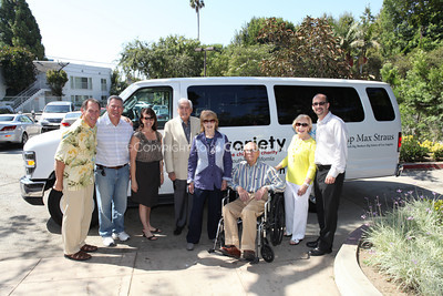 1208199-028     LOS ANGELES, CA - AUGUST 9: Variety The Children's Charity present the Monty and Marilyn Hall Sunshine Coach to Jerry Steinbaum and Big Brothers Big Sisters of Los Angeles on August 9, 2012 in Los Angeles, California. (Photo by Ryan Miller/Capture Imaging)