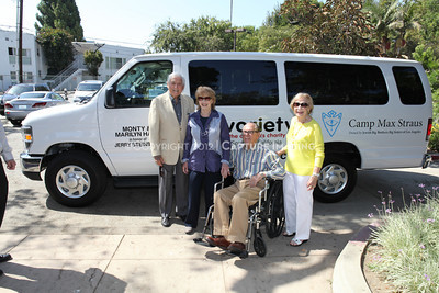 1208199-024     LOS ANGELES, CA - AUGUST 9: Variety The Children's Charity present the Monty and Marilyn Hall Sunshine Coach to Jerry Steinbaum and Big Brothers Big Sisters of Los Angeles on August 9, 2012 in Los Angeles, California. (Photo by Ryan Miller/Capture Imaging)