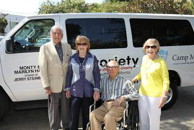 1208199-020     LOS ANGELES, CA - AUGUST 9: Variety The Children's Charity present the Monty and Marilyn Hall Sunshine Coach to Jerry Steinbaum and Big Brothers Big Sisters of Los Angeles on August 9, 2012 in Los Angeles, California. (Photo by Ryan Miller/Capture Imaging)