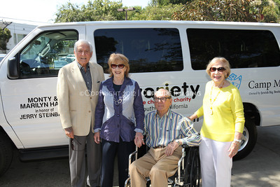 1208199-019     LOS ANGELES, CA - AUGUST 9: Variety The Children's Charity present the Monty and Marilyn Hall Sunshine Coach to Jerry Steinbaum and Big Brothers Big Sisters of Los Angeles on August 9, 2012 in Los Angeles, California. (Photo by Ryan Miller/Capture Imaging)