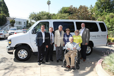 1208199-041     LOS ANGELES, CA - AUGUST 9: Variety The Children's Charity present the Monty and Marilyn Hall Sunshine Coach to Jerry Steinbaum and Big Brothers Big Sisters of Los Angeles on August 9, 2012 in Los Angeles, California. (Photo by Ryan Miller/Capture Imaging)