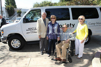 1208199-016     LOS ANGELES, CA - AUGUST 9: Variety The Children's Charity present the Monty and Marilyn Hall Sunshine Coach to Jerry Steinbaum and Big Brothers Big Sisters of Los Angeles on August 9, 2012 in Los Angeles, California. (Photo by Ryan Miller/Capture Imaging)