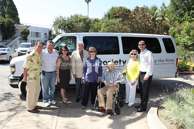 1208199-025     LOS ANGELES, CA - AUGUST 9: Variety The Children's Charity present the Monty and Marilyn Hall Sunshine Coach to Jerry Steinbaum and Big Brothers Big Sisters of Los Angeles on August 9, 2012 in Los Angeles, California. (Photo by Ryan Miller/Capture Imaging)