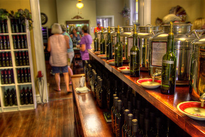 Customers shop at the Abingdon Olive Oil Company inside the Greenway-Trigg House on Main Street in Abingdon, VA on Saturday, July 28, 2012. Copyright 2012 Jason Barnette