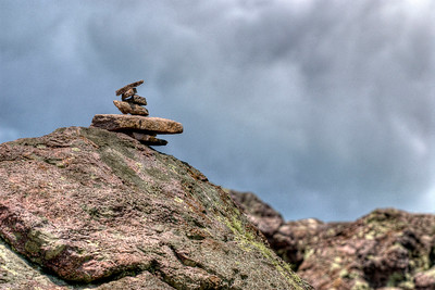 A talisman sits atop Echo Rock near Mile 489 on the Appalachian Trail in VA on Monday, July 30, 2012. Copyright 2012 Jason Barnette