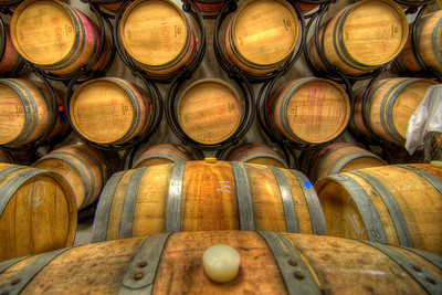 Dozens of wooden barrels hold the wine at the Abingdon Vineyard and Winery in Abingdon, VA on Saturday, October 20, 2012. Copyright 2012 Jason Barnette