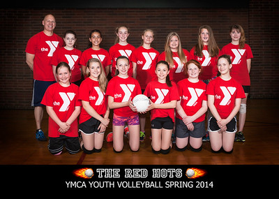 The Red Hots YMCA Volleyball Spring 2014