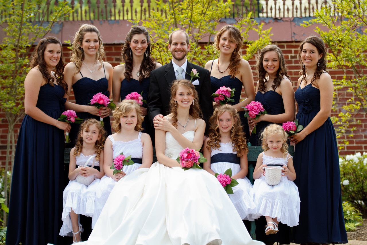 Ben & Laura Haddon Heights Wedding<br /> The bride and groom and her maids