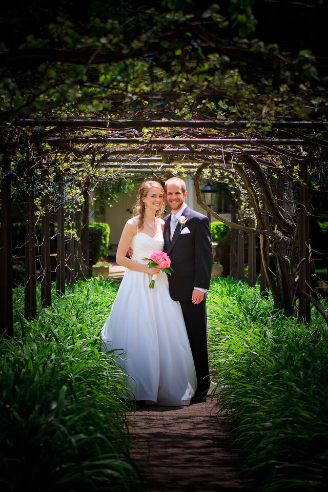 Ben & Laura Haddon Heights Wedding<br /> Ben and Laura under the arbor