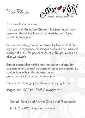 Gina Schild Photgraphy Print Release 2018