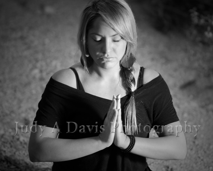7445bw<br /> Yoga Portraits, Judy A Davis Photography, Tucson, Arizona