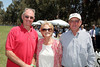 From left, Will Rogers grandchildren James Rogers, Bette Rogers Brandin and Chuck Rogers pose during the Will Rogers Dog Iron Polo event at the Will Rogers State Park Polo Field on Sunday,  Aug. 12, 2012, in Pacific Palisades, Calif. (Photo by Ryan Miller/Capture Imaging)