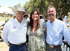 From left, Stuntman Richard Diamond Farnsworth, California State Parks Section Superintendent Lynette Brody and Will Rogers Ranch Foundation Board Member Wyatt McCrea (Grandson of western actor Joel McCrea) pose during the Will Rogers Dog Iron Polo event at the Will Rogers State Park Polo Field on Sunday,  Aug. 12, 2012, in Pacific Palisades, Calif. (Photo by Ryan Miller/Capture Imaging)