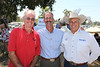 From left, James Rogers (Will Rogers' Grandson), Will Rogers Ranch Foundation Board Member Wyatt McCrea (Grandson of western actor Joel McCrea), and Stuntman Richard Diamond Farnsworth pose during the Will Rogers Dog Iron Polo event at the Will Rogers State Park Polo Field on Sunday,  Aug. 12, 2012, in Pacific Palisades, Calif. (Photo by Ryan Miller/Capture Imaging)