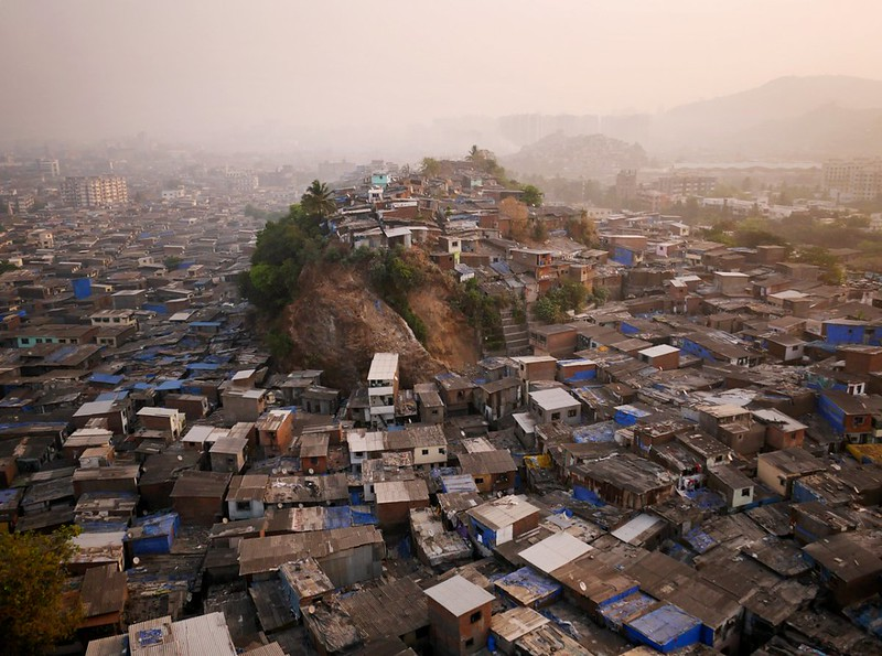 Hill 3 of Northern slums of Mumbai, India