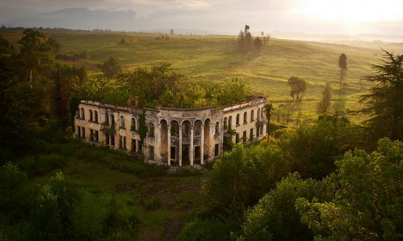 Ruined college - Gali, Abkhazia, near border of Georgia