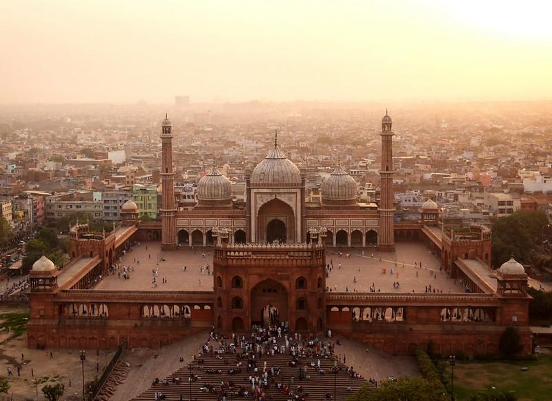 Jama Masjid, heart of Islam in India, built under orders of same Mughas emperor of Taj Mahal fame