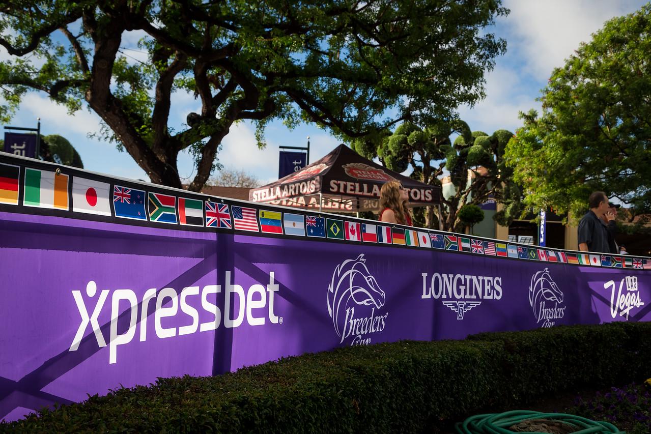 Xpressbet presence and Santa Anita scenic.