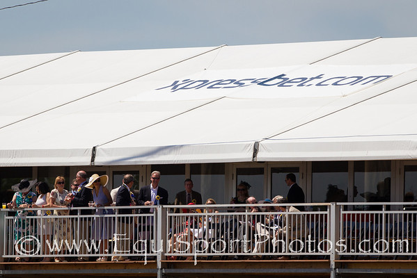 Xpressbet guests and signage at Pimlico 5.19.2012