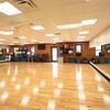 Renovated fitness studio.