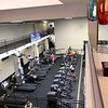 Gaming overlooking workout area