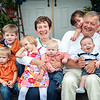 Zaitsoff Family : Shannon had contacted us for her own family portraits, and decided to get a few photos done again when her extended gathered together. She told me it would be 6 kids under six, and 2 very proud grandparents. This was so special - it was the house Grandpa had built, where all the moms had grown up, and now the 6 grandchildren roam around in the luscious pasture. This was a beautiful family home in every sense! 