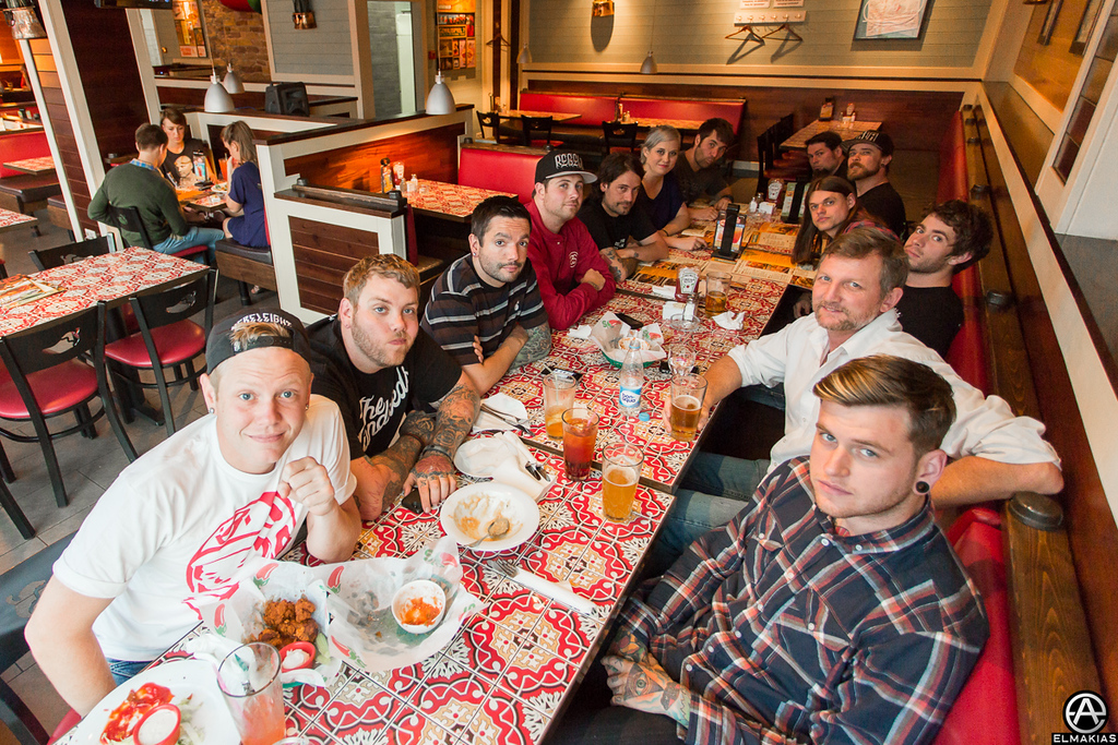 A Day To Remember crew feast