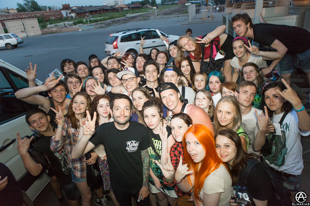 Jeremy with fans