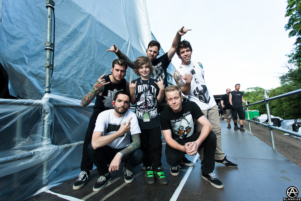 A Day To Remember plus an awesome fan