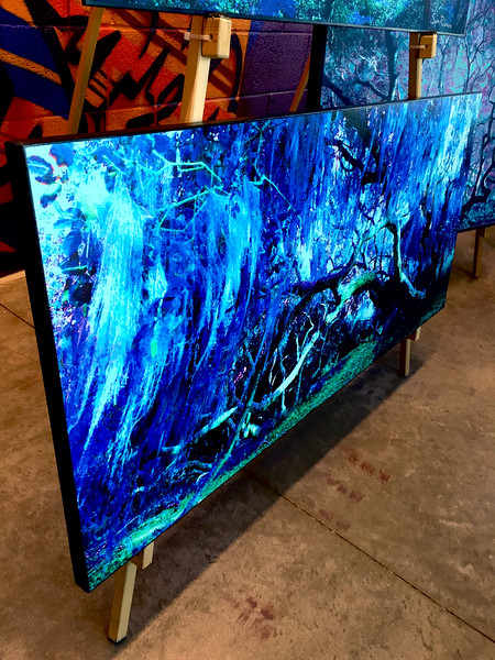 "$360...44""x 20""...80_2245 Sapphire...canvas on masonite"