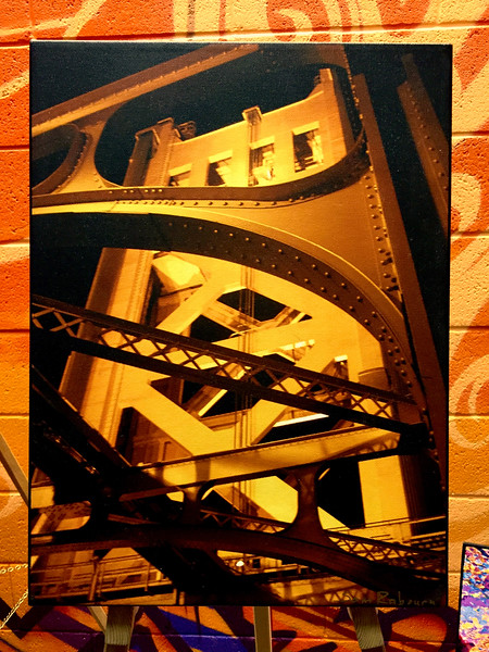 """$120...12""""x 16""""...Tower Detail...Stretched Canvas"""