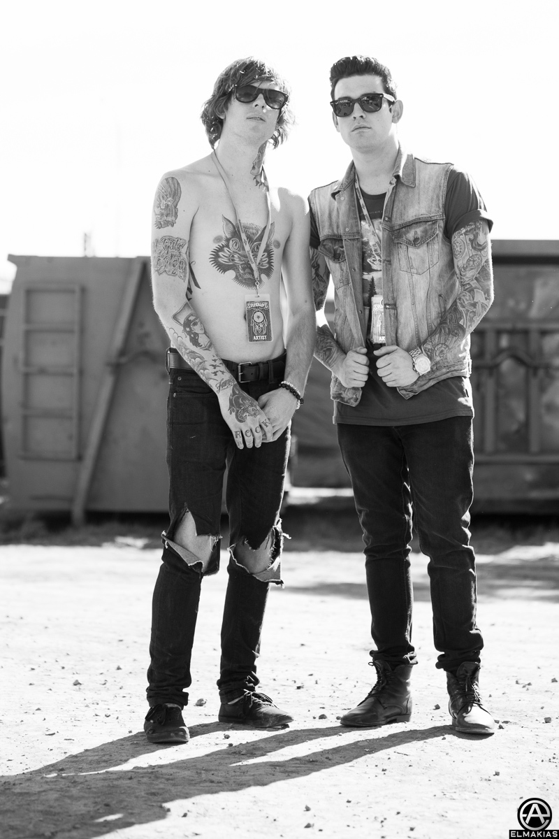 Alan Ashby of Of Mice & Men and Jack Fowler of Sleeping With Sirens