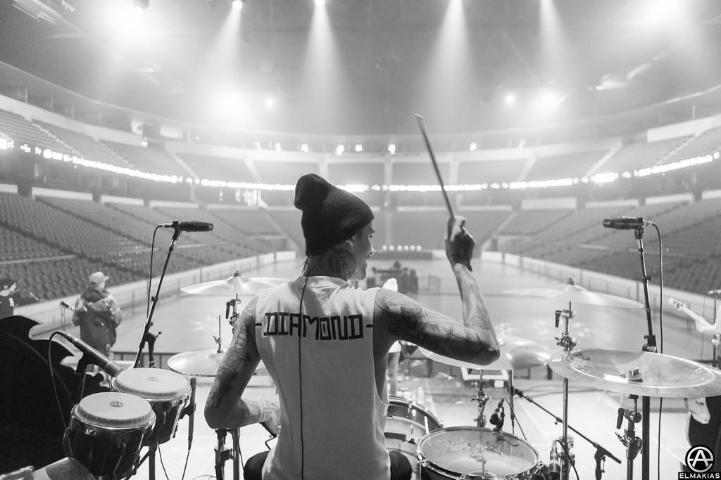 Mike Fuentes sound check - Spring Fever Tour