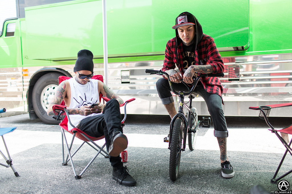 Mike Fuentes and Tony Perry of Pierce The Veil