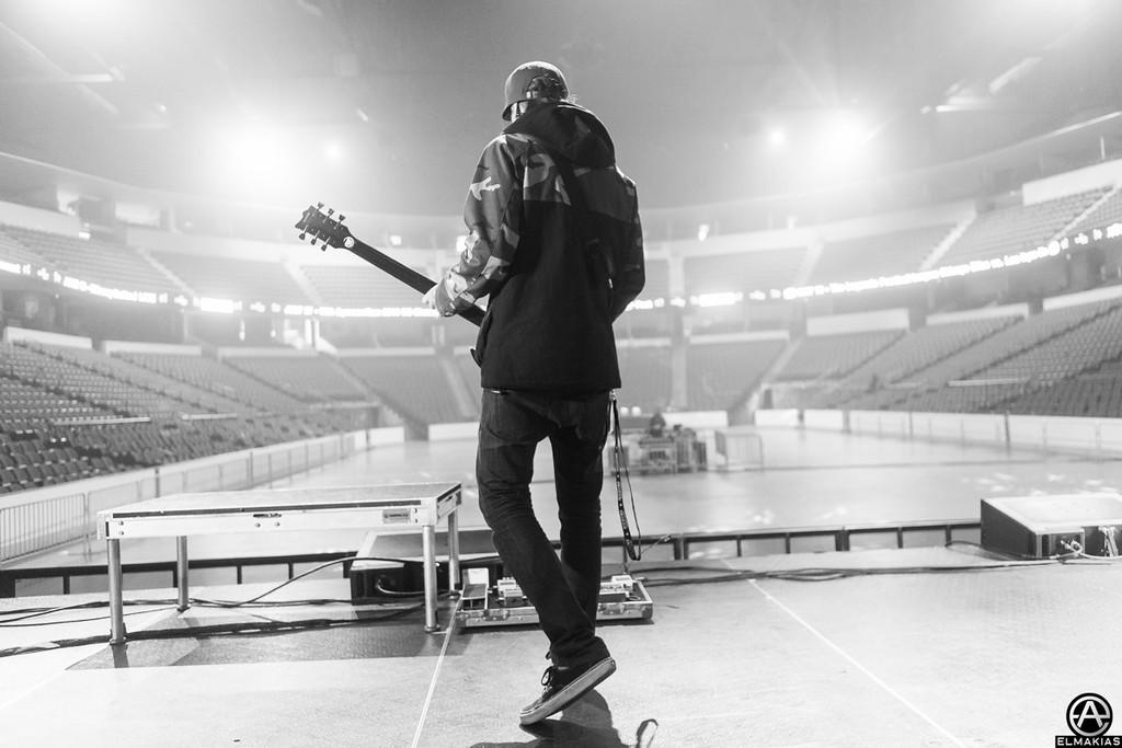 Tony Perry sound check - Spring Fever Tour