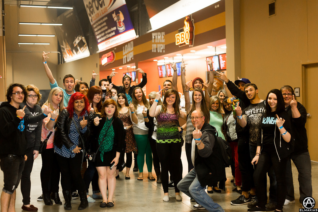 All Time Low + fans