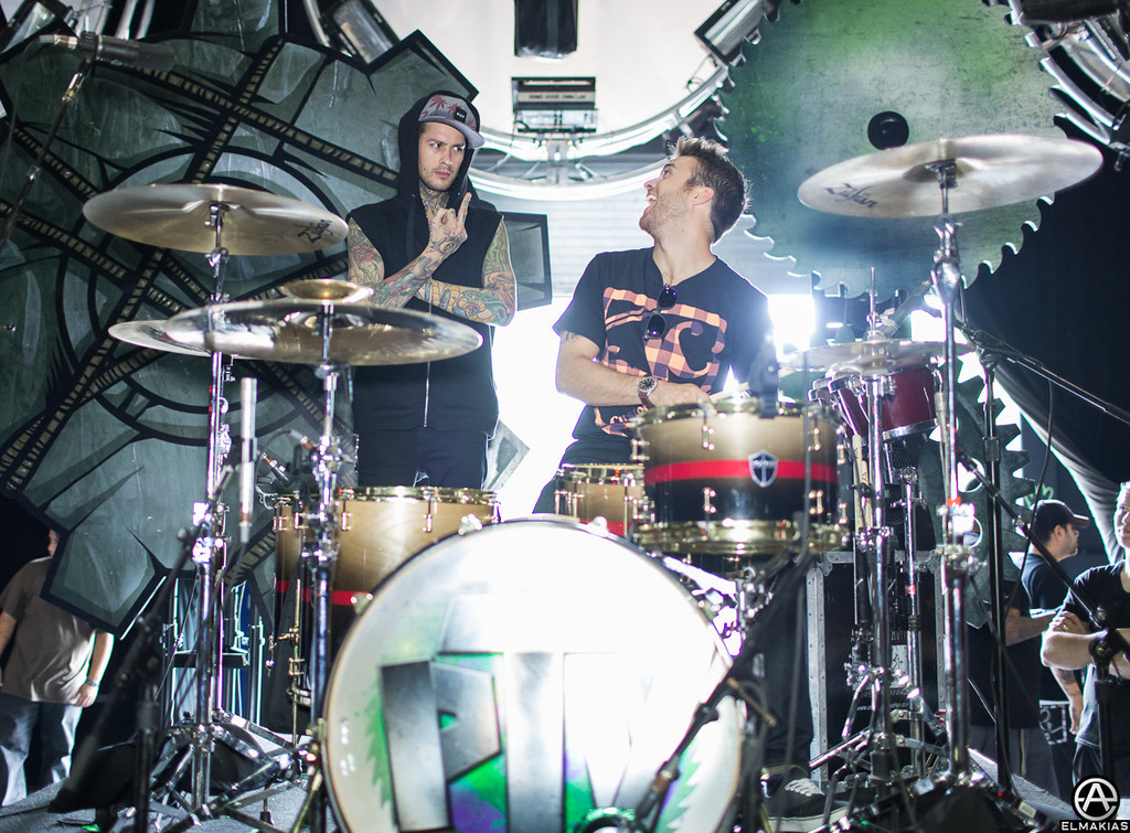 Mike from Pierce The Veil and Rian of All Time Low