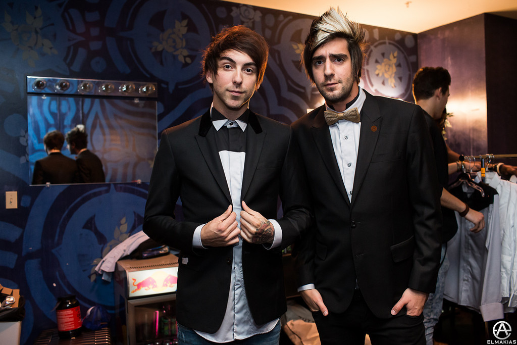 Alex Gaskarth and Jack Barakat of All Time Low