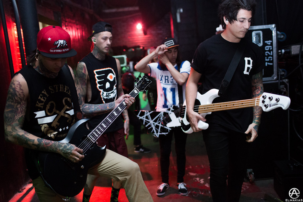 Pierce The Veil before going onstage