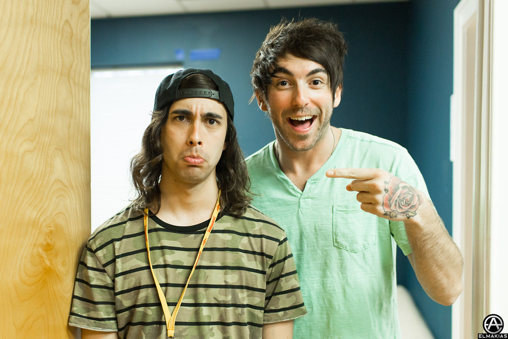 Vic from Pierce The Veil and Alex from All Time Low