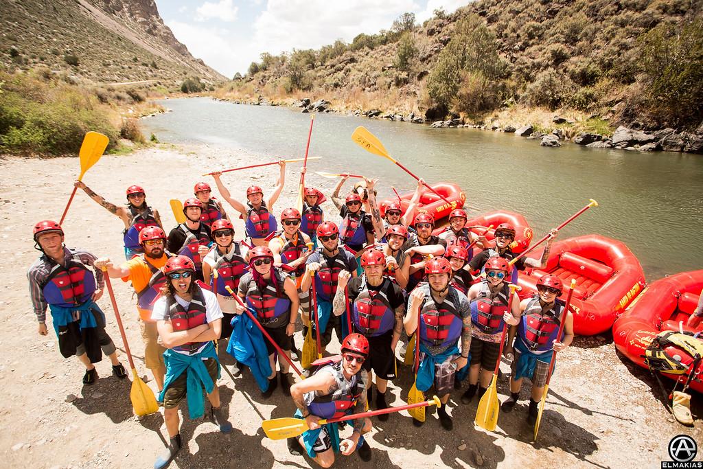 Rafting friends